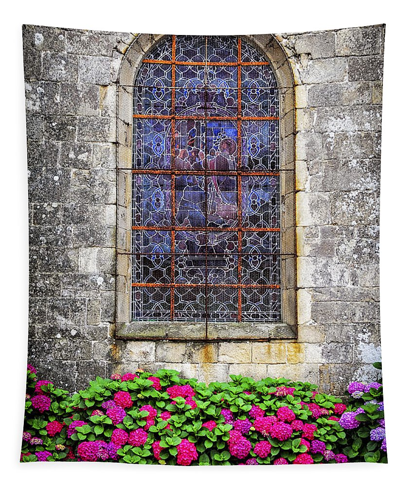 Old Tapestry featuring the photograph Church Window In Brittany by Elena Elisseeva