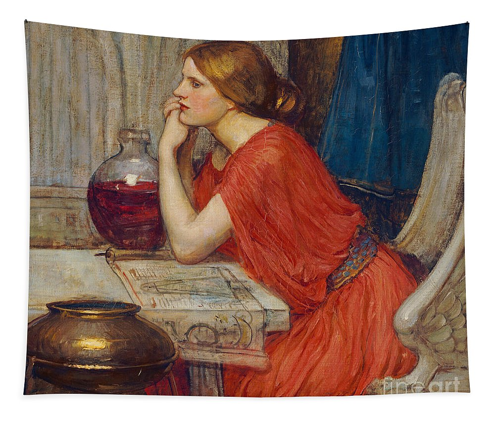 Circe Tapestry featuring the painting Circe by John William Waterhouse