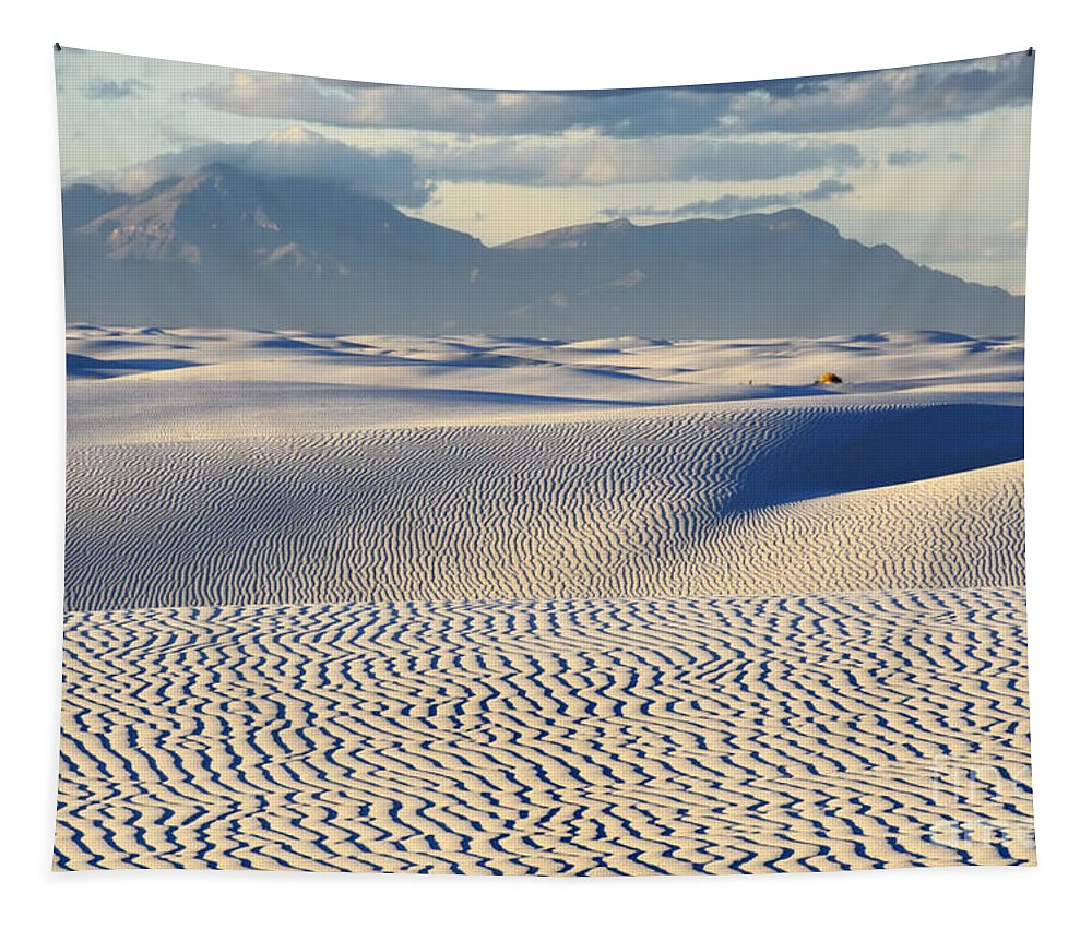Alamogordo Tapestry featuring the photograph Circles In The Sand by Bob Christopher