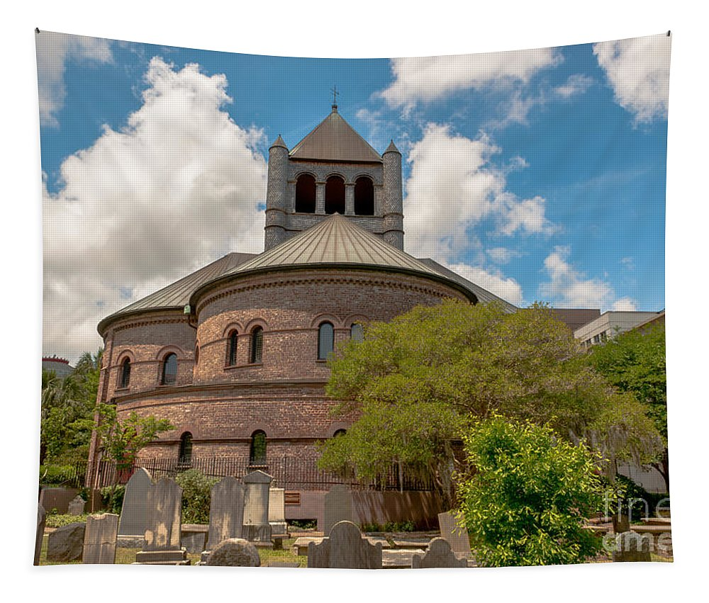 Circular Congregational Church Tapestry featuring the photograph Circular Congregational Church by Dale Powell