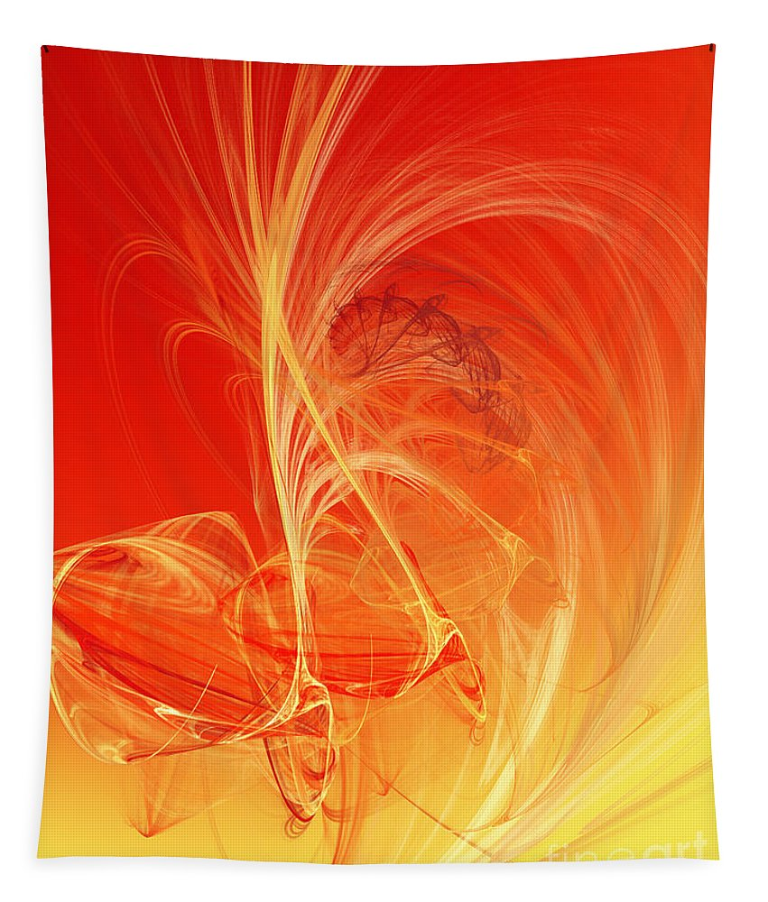 Andee Design Abstract Tapestry featuring the digital art Citrus Infusion by Andee Design