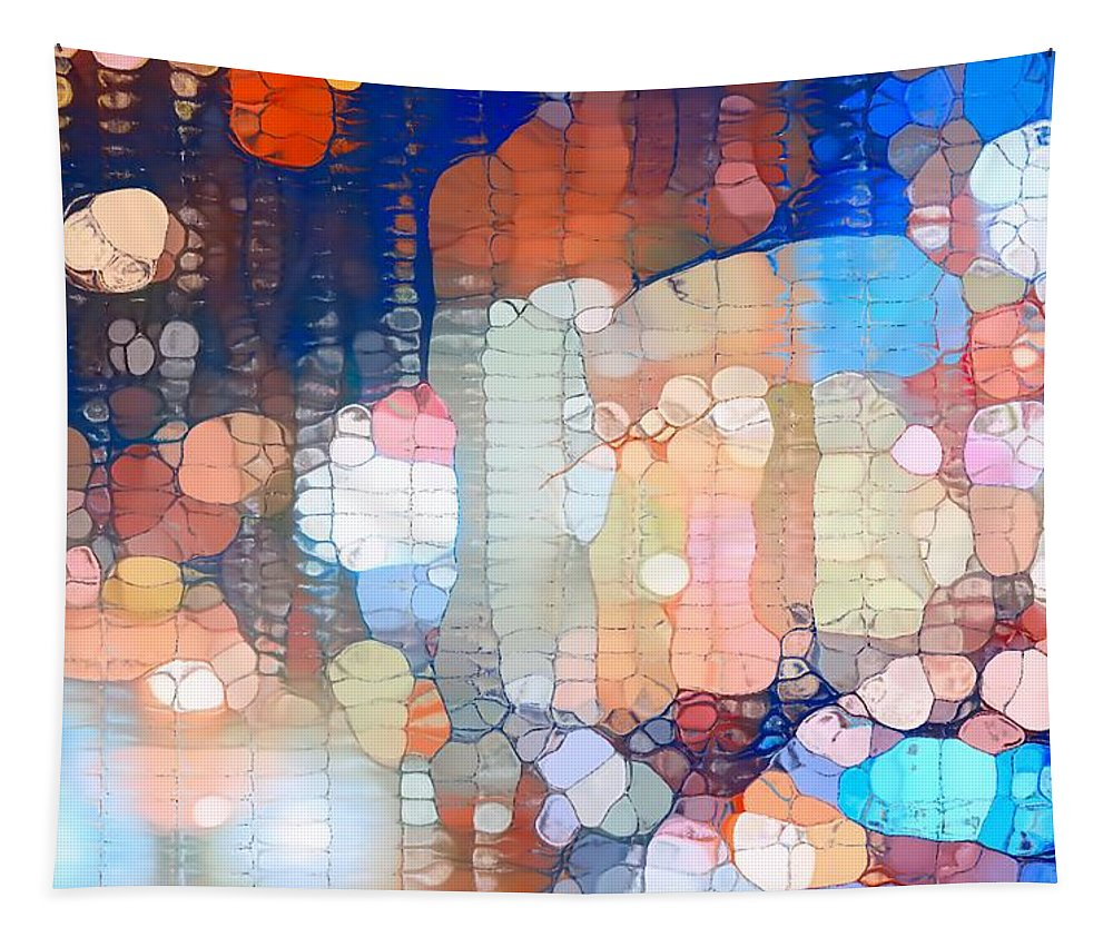City Lights Urban Abstract Tapestry featuring the photograph City Lights Urban Abstract by Dan Sproul