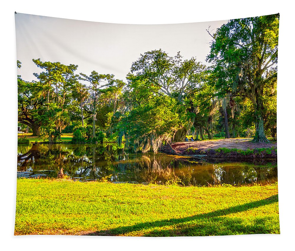 New Orleans Tapestry featuring the photograph City Park New Orleans by Steve Harrington