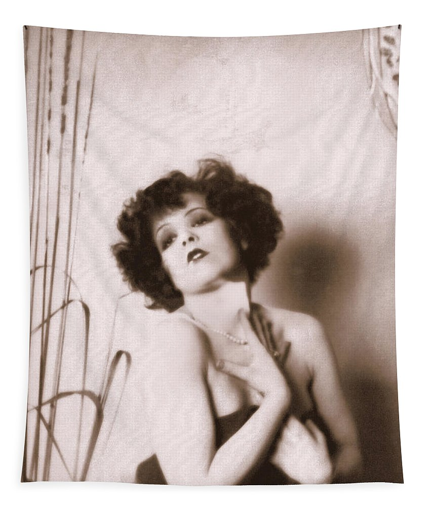 Clara Bow Tapestry featuring the photograph Clara Bow by Glenn Aker