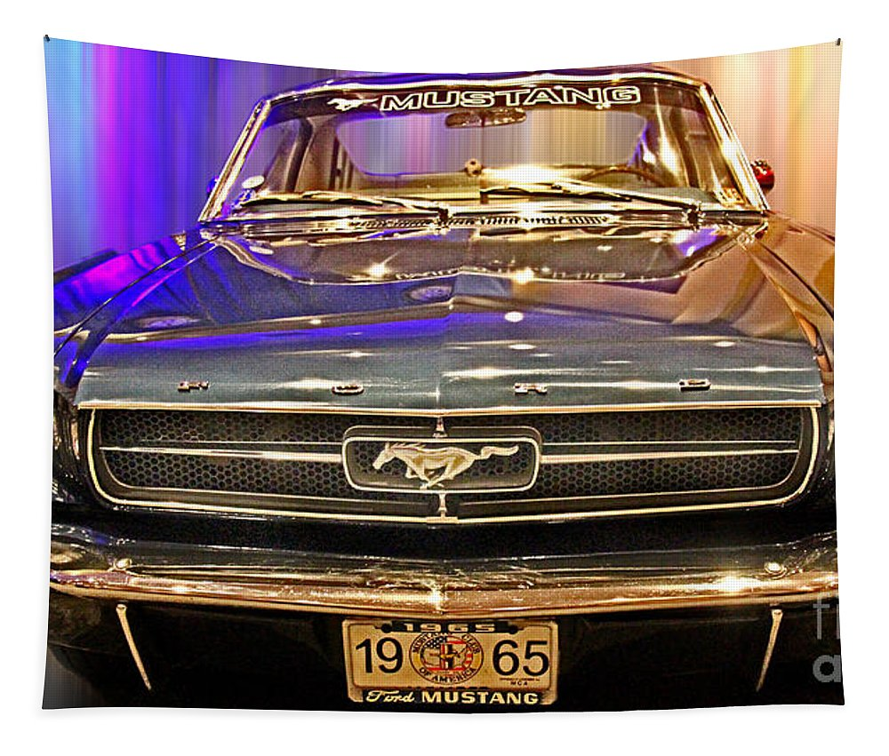 Ford Tapestry featuring the photograph Classic Mustang by Tom Gari Gallery-Three-Photography