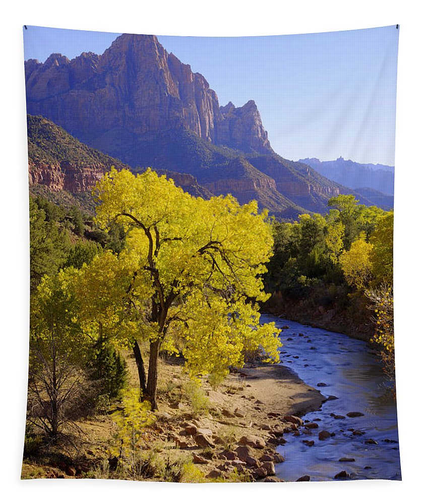 Chad Dutson Tapestry featuring the photograph Classic Zion by Chad Dutson
