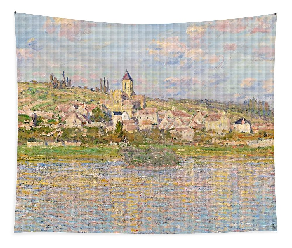 Monet Tapestry featuring the painting Claude Monet Vetheuil 1879 by Movie Poster Prints