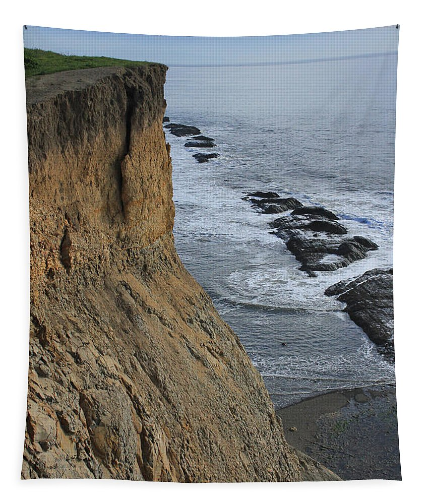 Cliffs Tapestry featuring the photograph D3a6138-cliffs At Bolinas by Ed Cooper Photography