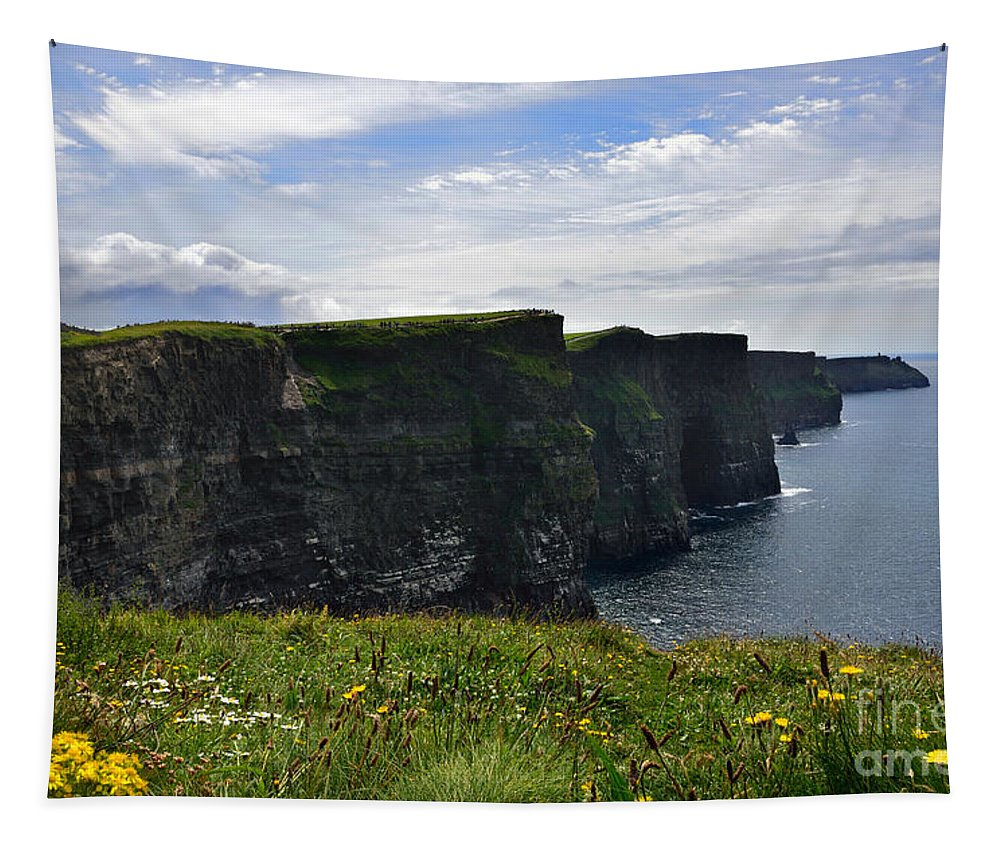 Cliff Tapestry featuring the photograph Cliffs Of Moher Looking South by RicardMN Photography