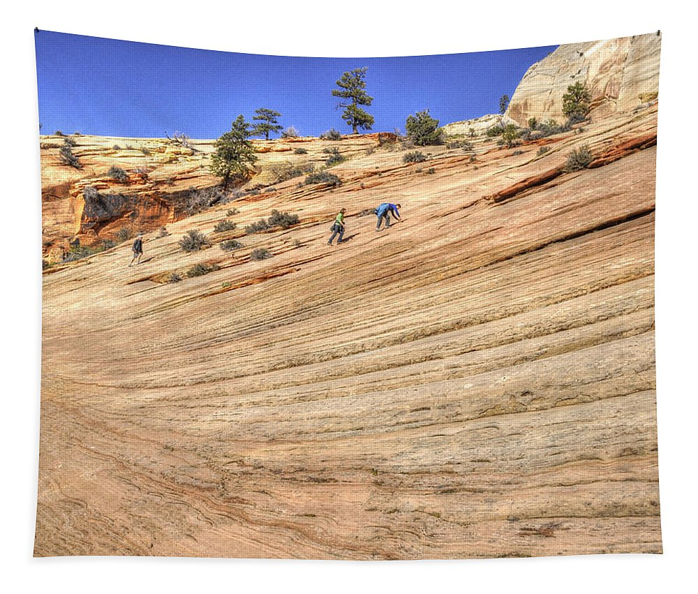 Wendy-elliott.artistwebsites.com Canvas Prints Tapestry featuring the photograph Climbing Uphill by Wendy Elliott