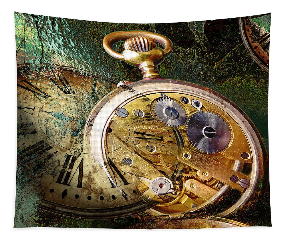 Clock Tapestry featuring the photograph Clockwork by John Anderson