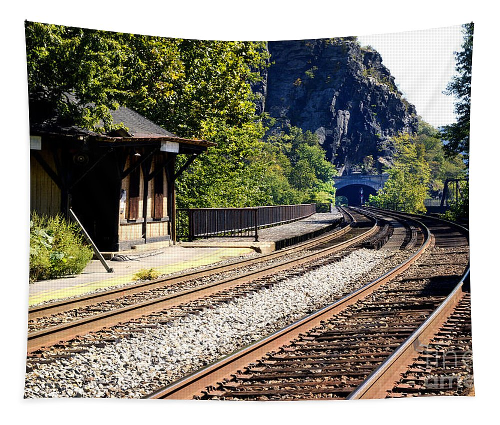 Harpers Ferry Tapestry featuring the photograph Closed For Business by Paul W Faust - Impressions of Light