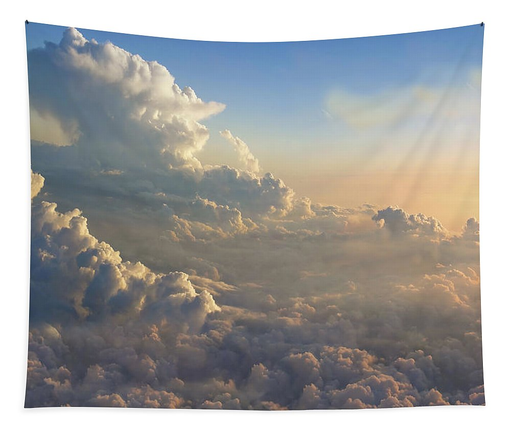Aerial Tapestry featuring the photograph Cloud Bank by Mary Lane