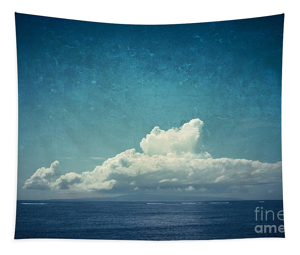 Bali Tapestry featuring the photograph Cloud Over Island by Dirk Wuestenhagen