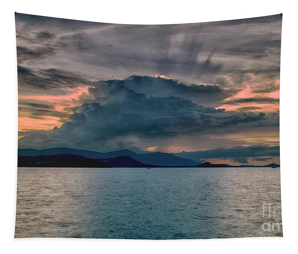 Michelle Meenawong Tapestry featuring the photograph Clouds Explosion by Michelle Meenawong