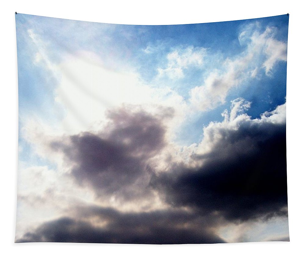 Sky Tapestry featuring the photograph Clouds by Katie Beougher