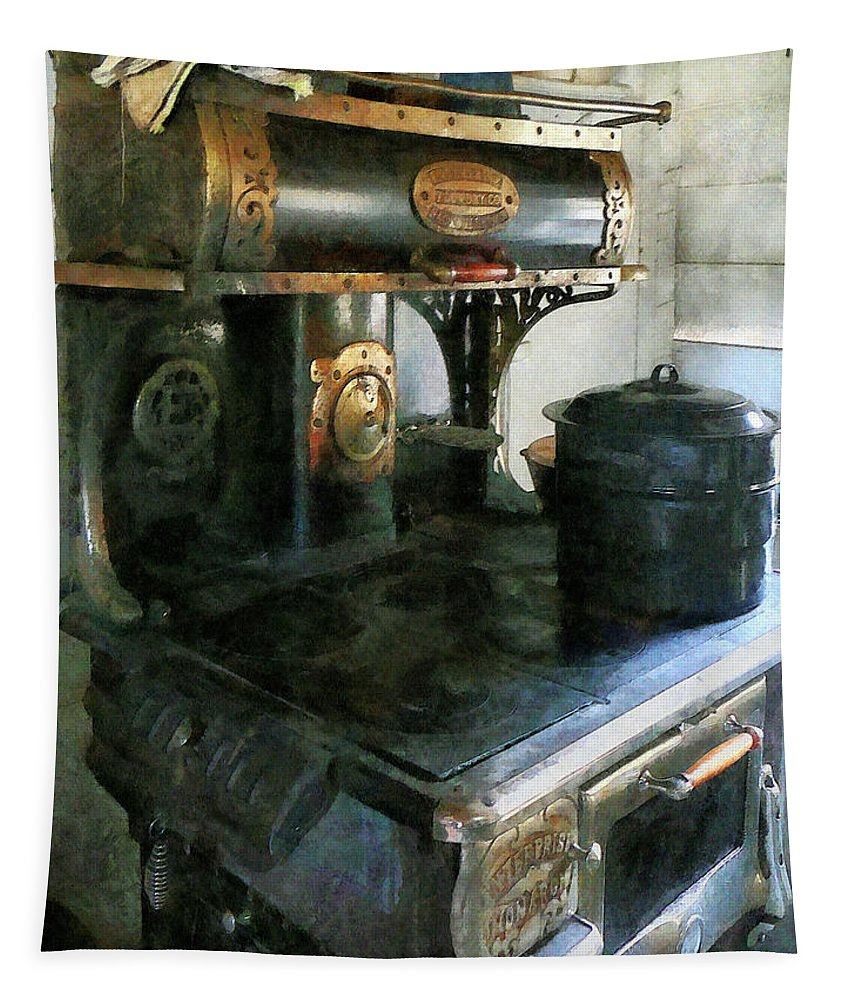 Stove Tapestry featuring the photograph Coal Stove by Susan Savad