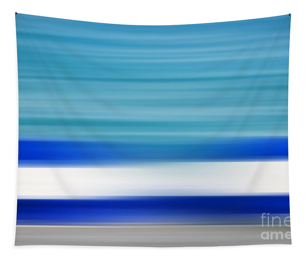 Blue Tapestry featuring the photograph Coastal Horizon 2 by Delphimages Photo Creations
