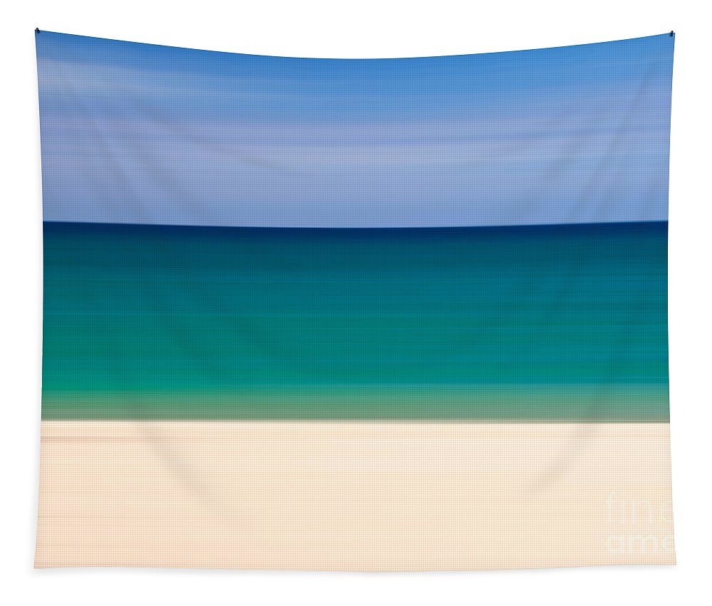 Seascape Tapestry featuring the photograph Coastal Horizon 8 by Delphimages Photo Creations