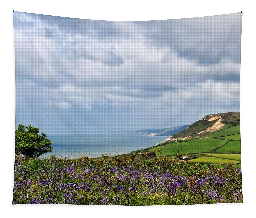 Southwest Tapestry featuring the photograph Coastal Overlook From Eype by Susie Peek