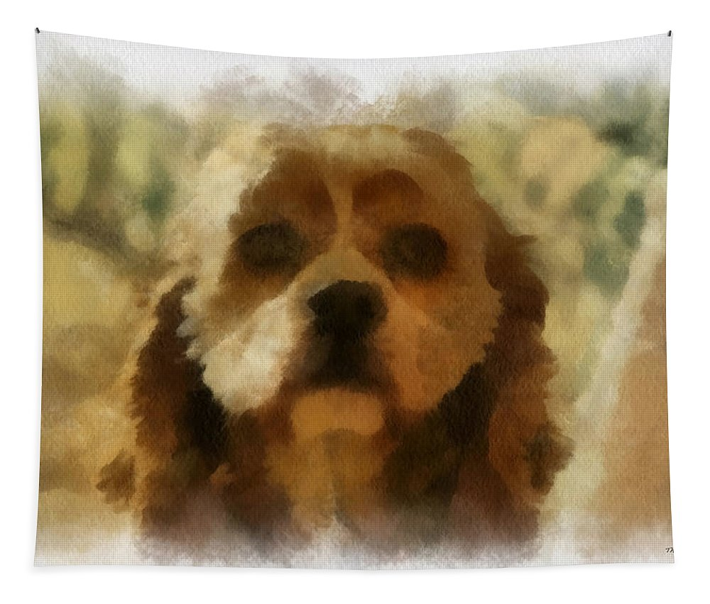 Spaniel Tapestry featuring the photograph Cocker Spaniel Photo Art 09 by Thomas Woolworth