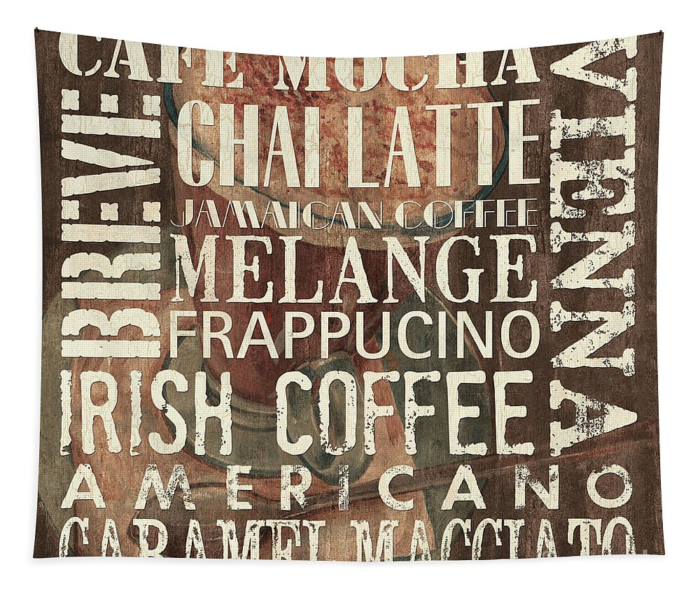 Coffee Tapestry featuring the painting Coffee Of The Day 1 by Debbie DeWitt