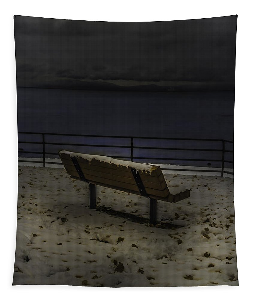 Cold Seat Tapestry featuring the photograph Cold Seat by Mitch Shindelbower