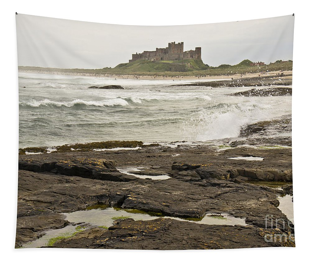 Seashore Tapestry featuring the photograph Cold Waves Of Northumberland by Elena Perelman