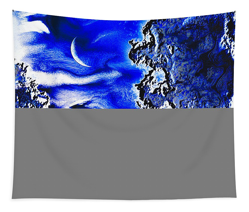 Crescent Moon Tapestry featuring the photograph Cold Crescent Moon Phase by Kellice Swaggerty