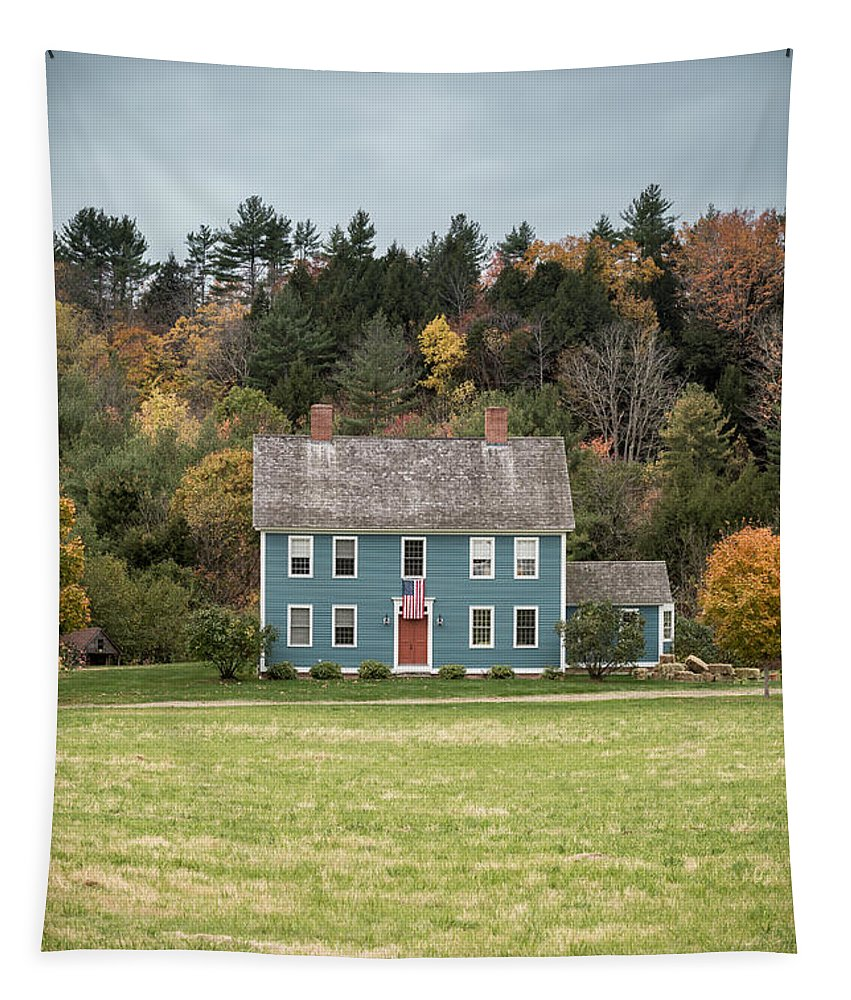 Vermont Tapestry featuring the photograph Colonial Home by Edward Fielding