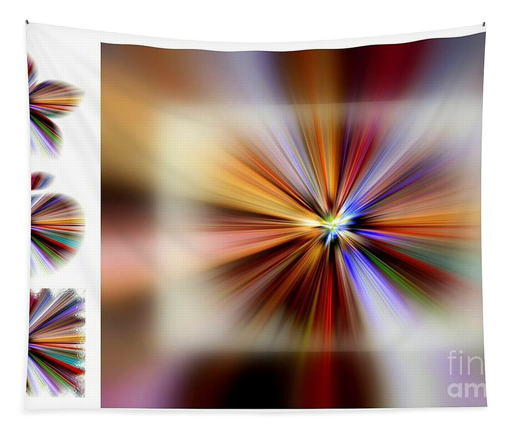Art Tapestry featuring the digital art Color Burst by Linda Galok