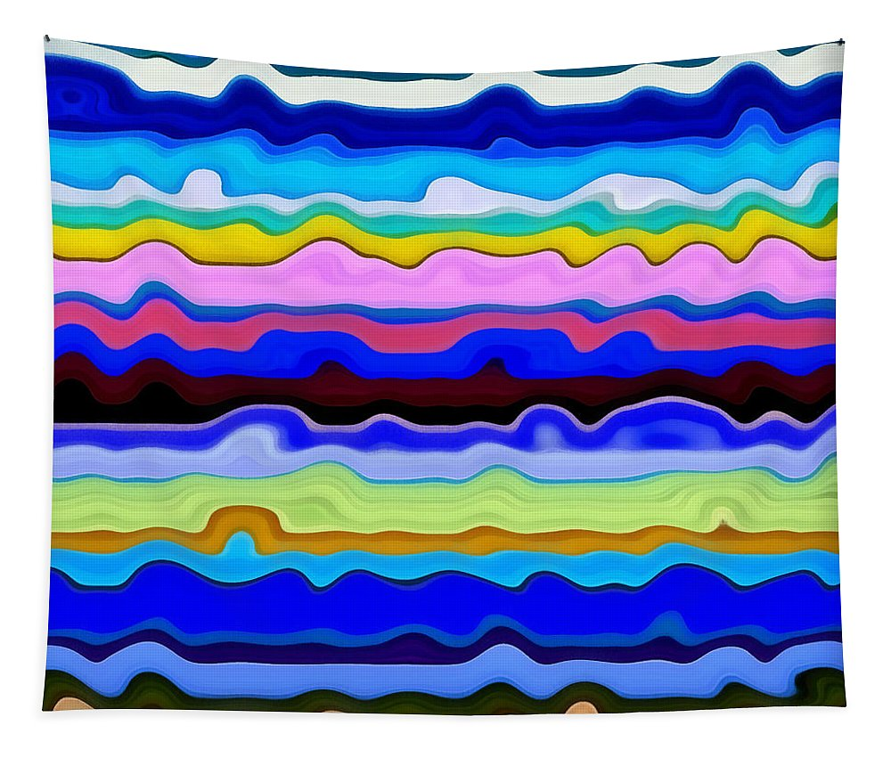 Textural Tapestry featuring the painting Color Waves No. 4 by Michelle Calkins