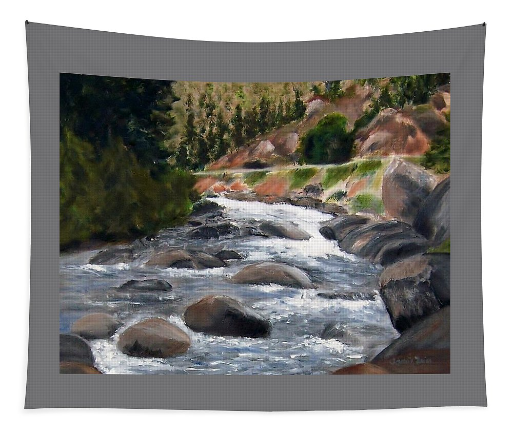 Water Tapestry featuring the painting Colorado Rapids by Jamie Frier