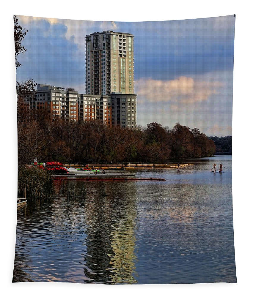 Austin Tapestry featuring the photograph Colorado River Recreation by Judy Vincent