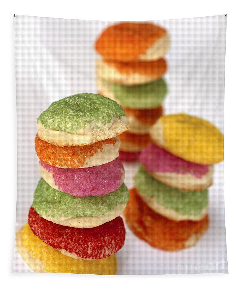 Food Tapestry featuring the photograph Sugar Cookies by Iris Richardson