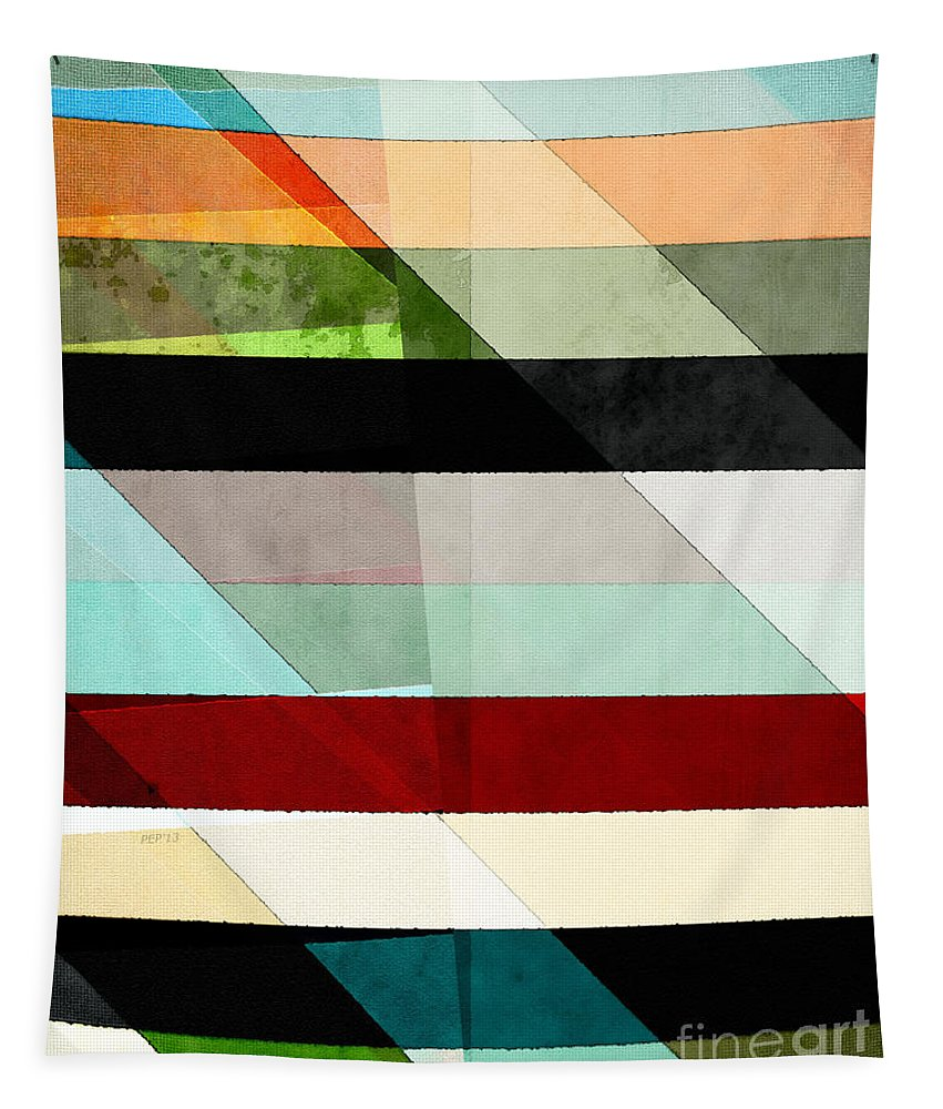 Colors Tapestry featuring the digital art Colorful Textured Abstract by Phil Perkins
