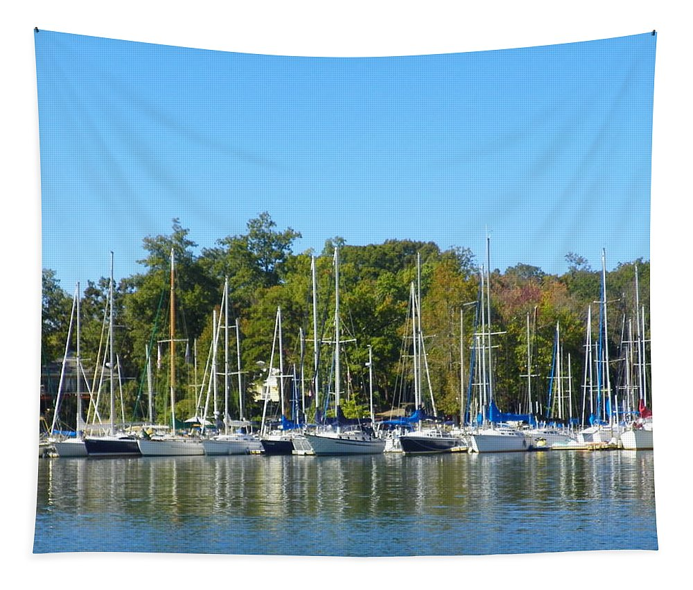 Come Sail Away Tapestry featuring the photograph Come Sail Away by Lisa Wooten