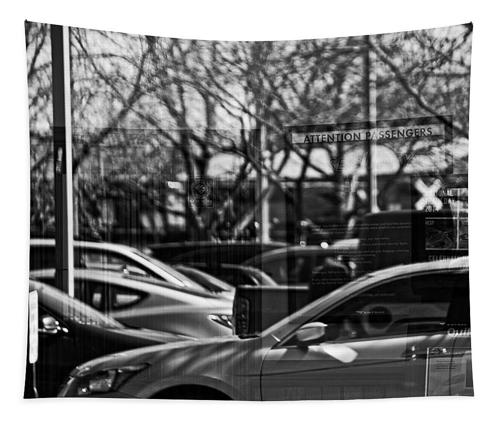 Reflection Tapestry featuring the photograph Confusing Commuter Reflections by Mike Martin