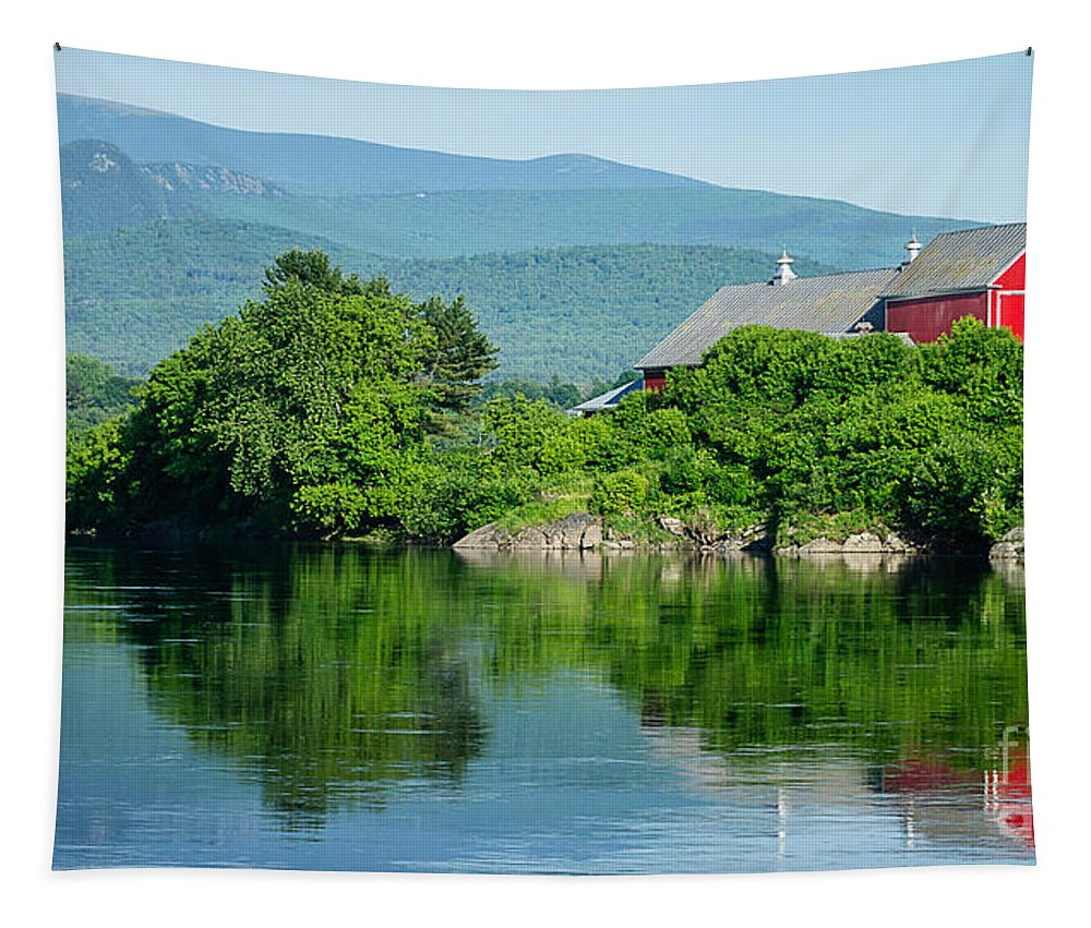 Farm Tapestry featuring the photograph Connecticut River Farm II by Edward Fielding