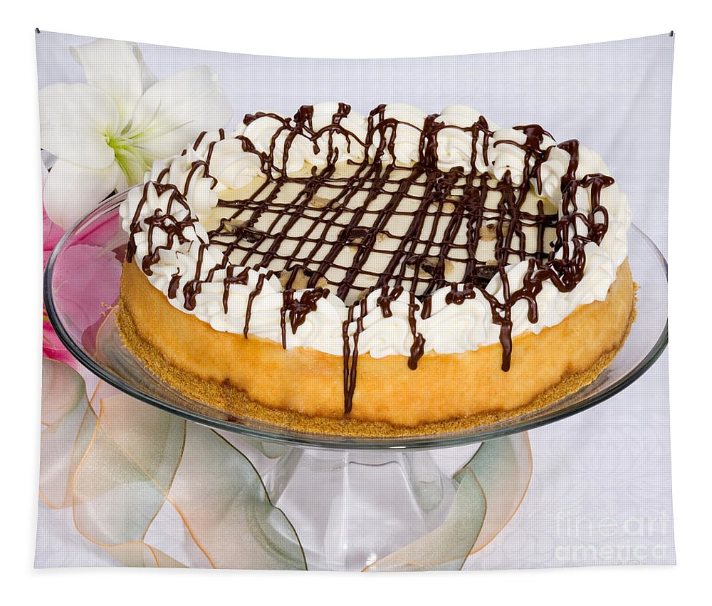 Cookie Dough Cheesecake Tapestry featuring the photograph Cookydaugh Cheesecake by Iris Richardson