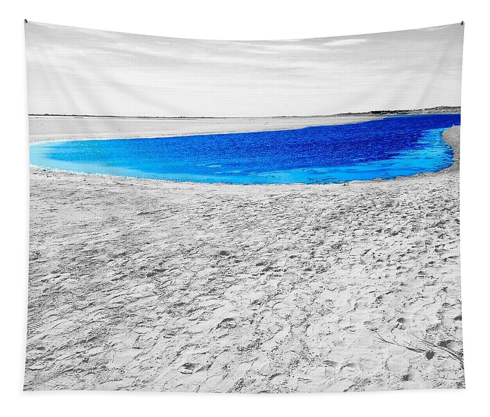 Digital Enhanced Photo Tapestry featuring the digital art Coorong Sandy Bay by Tim Richards