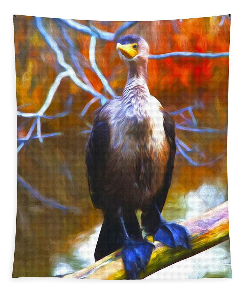Cormorant Tapestry featuring the photograph Cormorant Reds by Alice Gipson