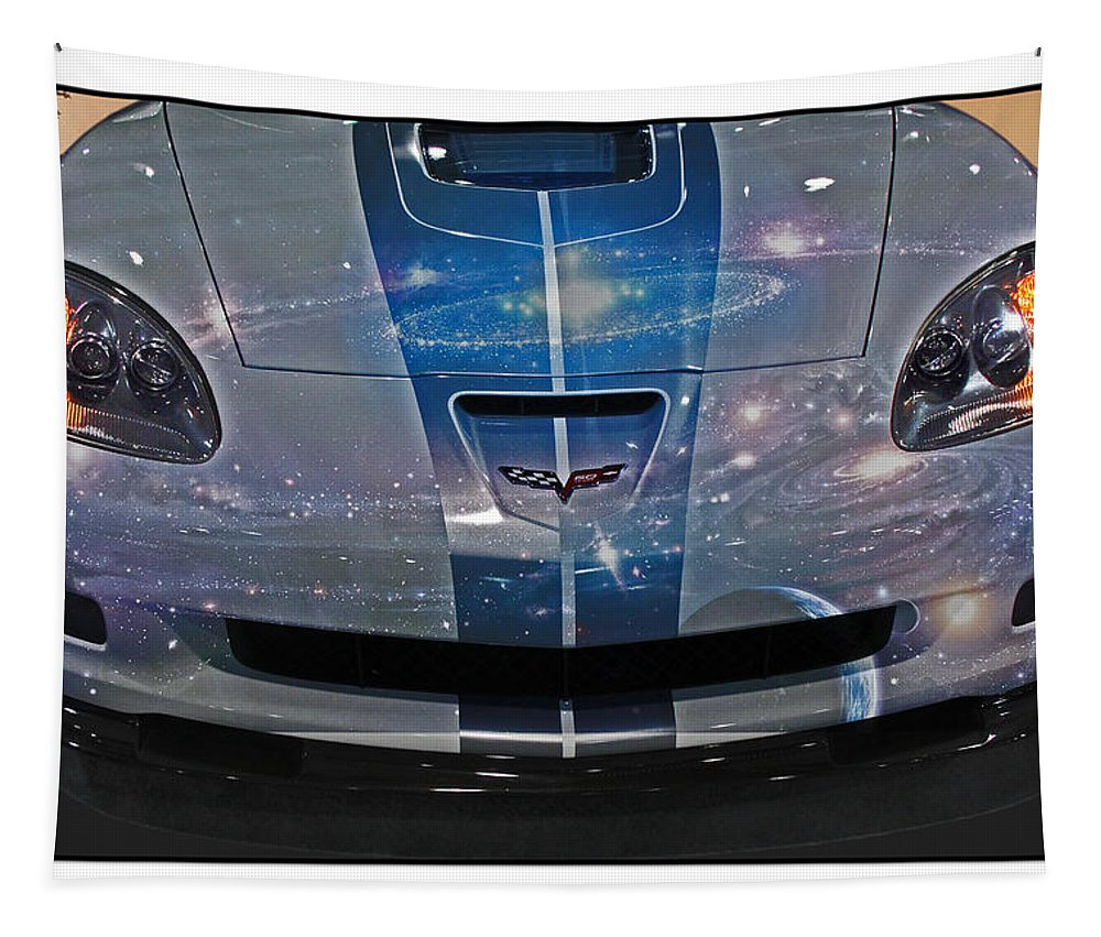 Abstract Tapestry featuring the photograph Corvette Is Out Of This World by Tom Gari Gallery-Three-Photography