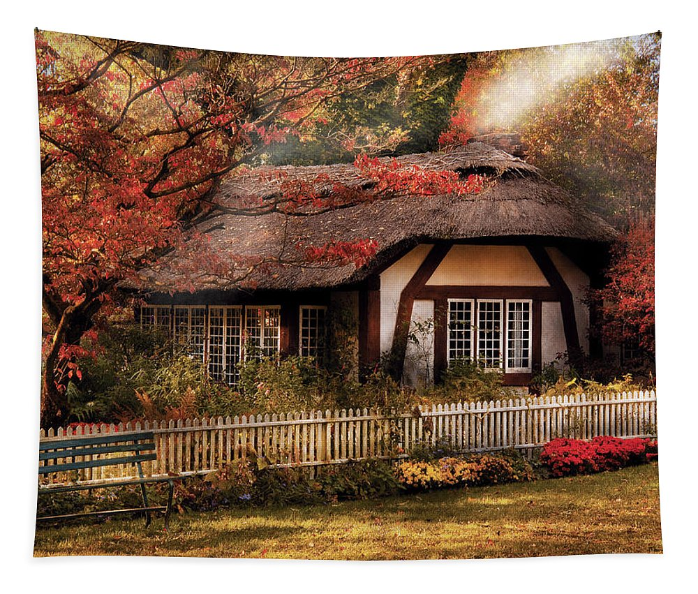Savad Tapestry featuring the photograph Cottage - Nana's House by Mike Savad