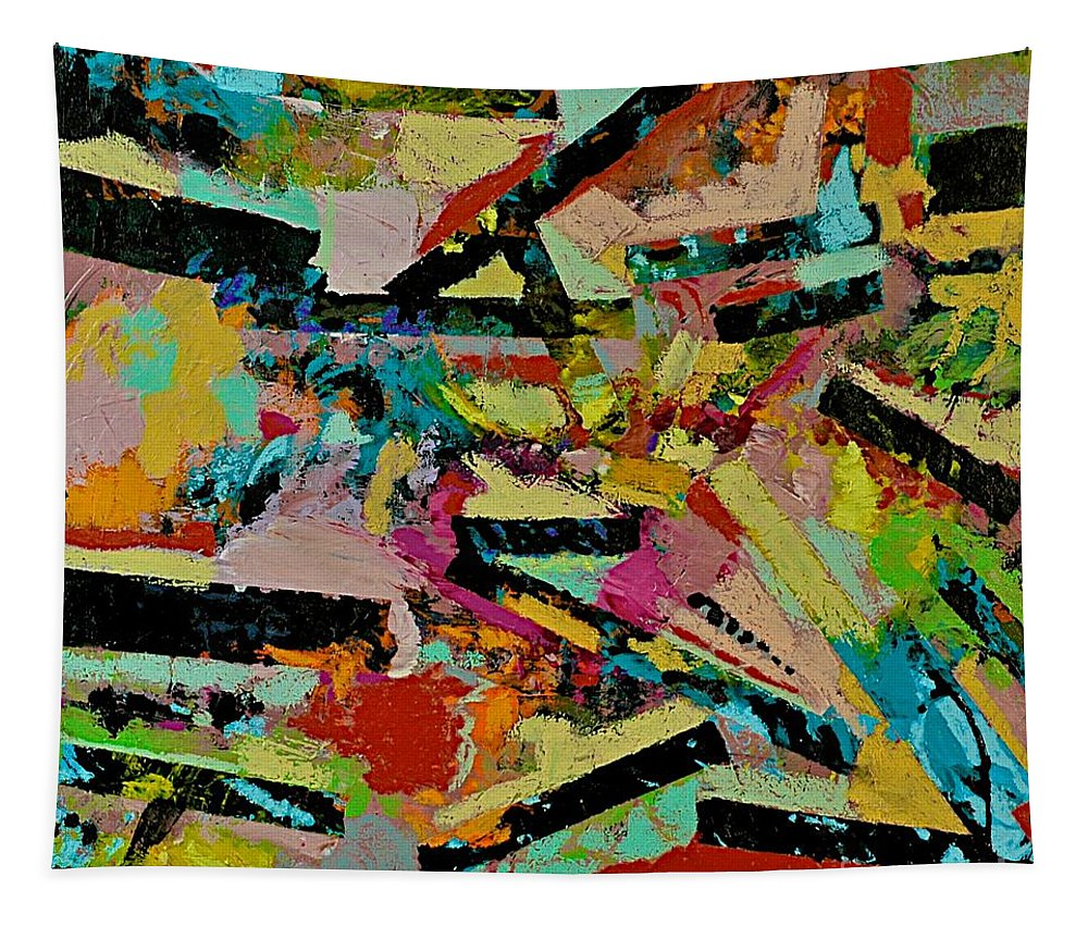 Landscape Tapestry featuring the painting Cotton Crystal by Allan P Friedlander