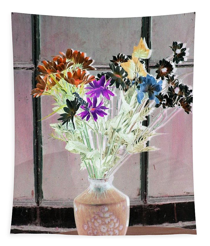Flower Tapestry featuring the photograph Country Comfort - Photopower 453 by Pamela Critchlow