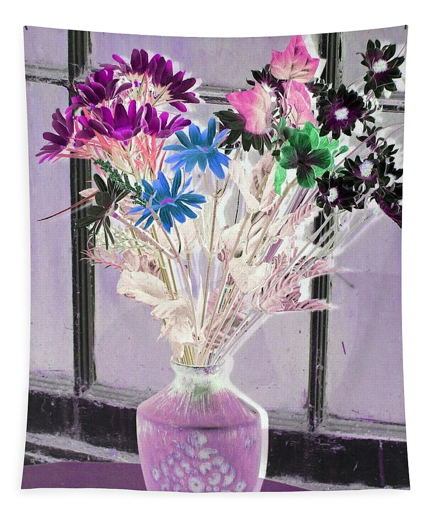 Flower Tapestry featuring the photograph Country Comfort - Photopower 455 by Pamela Critchlow