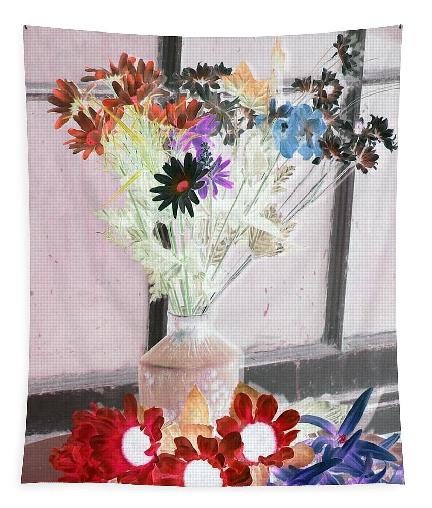 Flower Tapestry featuring the photograph Country Comfort - Photopower 460 by Pamela Critchlow
