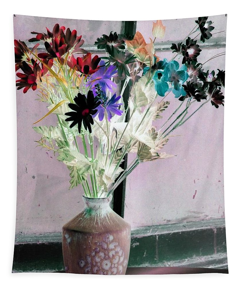 Flower Tapestry featuring the photograph Country Comfort - Photopower 464 by Pamela Critchlow
