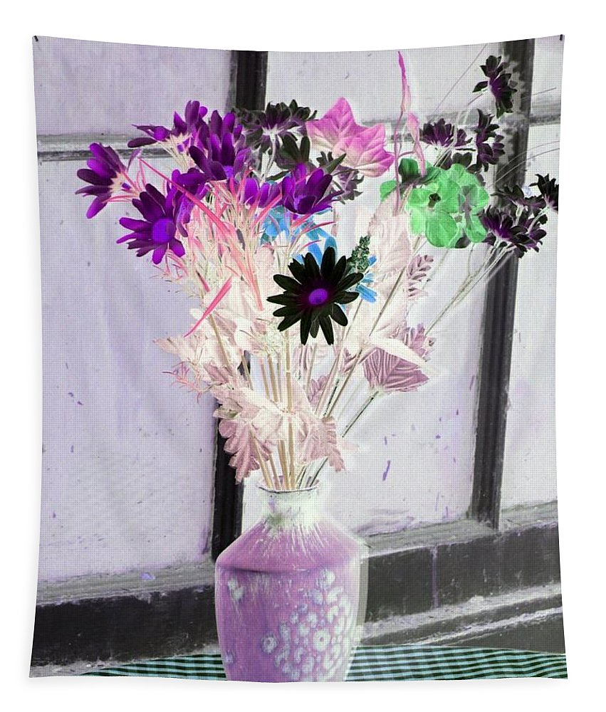 Flower Tapestry featuring the photograph Country Comfort - Photopower 475 by Pamela Critchlow